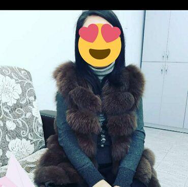 Женская одежда - Кыргызстан: Продаю жилетку. Натуральный песец. Цвет коричневый