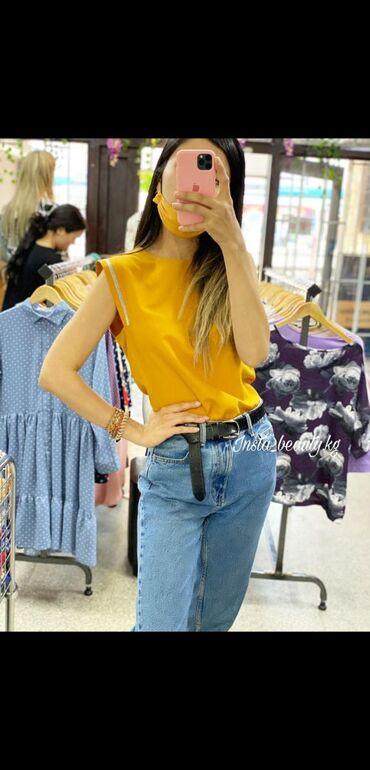Рубашки и блузы в Кыргызстан: Новинка! Женская блузка! Размеры 42-48 Цвета - горчица, черный
