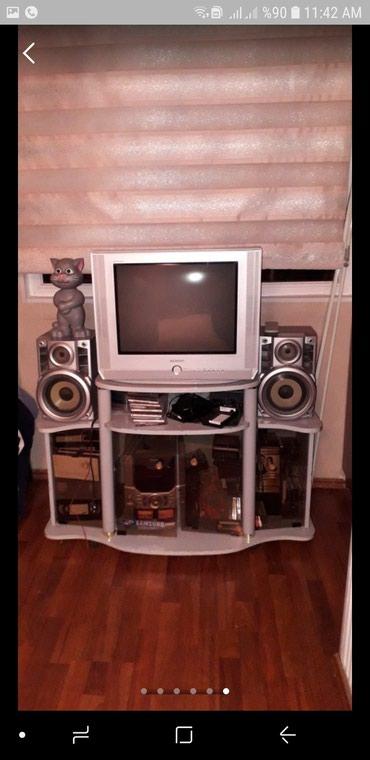 Bakı şəhərində Tv, Video Player, DVD Player, Musiqi Centir, Tv altdigi. Dest Birlikde