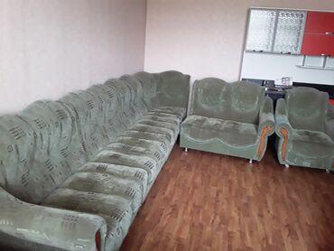 Продается б/у мягкая мебел угл. Шифонер длина 2.5м. Прихожий. Кух