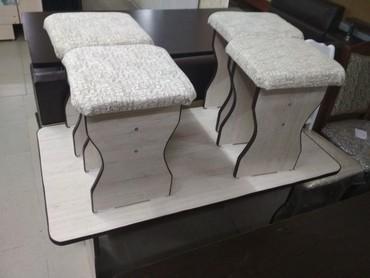 столы в упаковке в Кыргызстан: Стол табуретка  стол 1,10*65 4 табуретка