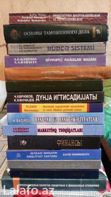 Bakı şəhərində Iqtisadiyyatla bagli azerbaycan, rus ve ingilis dilinde kitabla