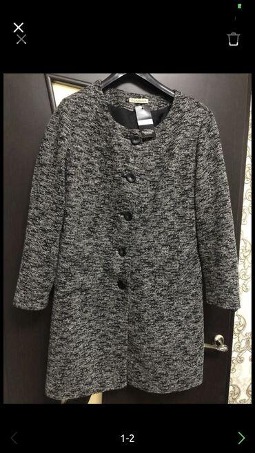 Пальто новое брала в Италии за 9500, осень-весна, размер 52-56, ф