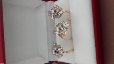 комплект из красного золота 585 проба с бриллиантами. в Бишкек