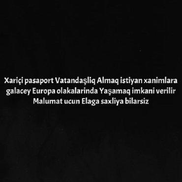 tap az quwlar - Azərbaycan: Xarici PassaportXariçi vatandaşliq xanimlara Europa olkalarinda iaşmaq