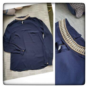 Preko grudi - Srbija: Bluza sa ogrlicom -AZURABluza damski stilPrekrasnaDužina 63cmramena 38