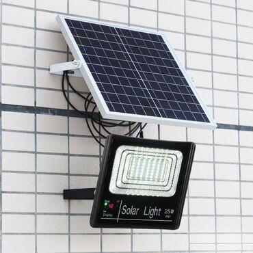 30W Уличный прожектор на солнечной батарее Уличный прожектор Работает