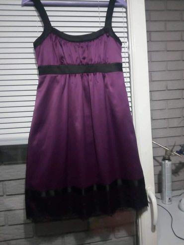 Prelepa satenska ljubicasta haljina, sa cipkom, veoma svecana i - Loznica