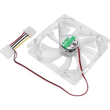 Кулер-вентилятор HXS (80 см х80 см, 12V, 4 pin с подсветкой LED)