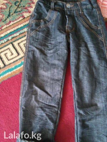 Тонким с ночесом джинсы  6/7лет-200с. почти новые!!! в Бишкек