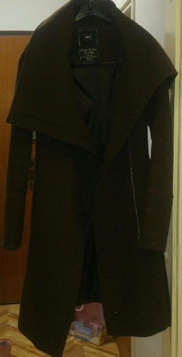 Tiffany vuna/pamuk kaput, S velicina. Cokoladno braon boja. Dobro