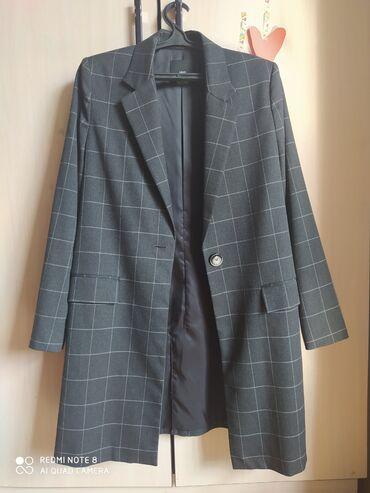 Продаю длинный пиджак/пальто Mango, б/у, размер L. Одевала 1 раз