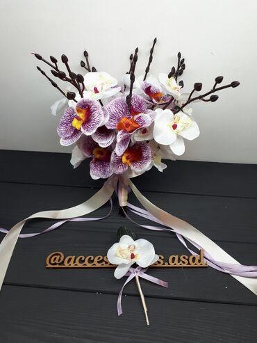 свадебный букет в Кыргызстан: Свадебный букет невесты  Цветы искусственные Пишите на вотсап, скину в