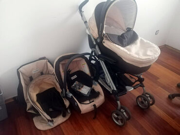 Za decu - Srbija: Peg Perego Pliko P3 trio komplet kolica. Koriščena za dva deteta
