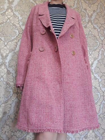 розовый тренч в Кыргызстан: Демисезонное новое пальто в стиле Chanel. Размер L. Не