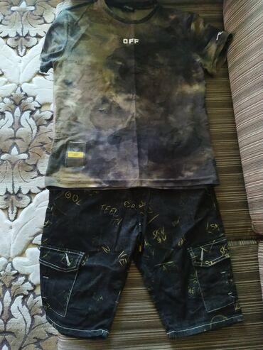 Детская одежда и обувь - Кыргызстан: Шорты и футболка на мальчика 11-13 лет