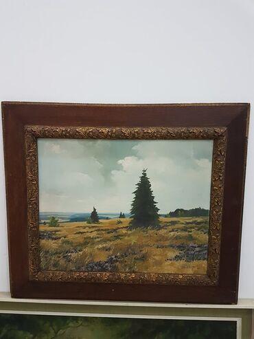 Slike na platnu - Srbija: Odlicna slika u lux ramu dimenzije59 cm70 cm SLIKA JE ULJE NA