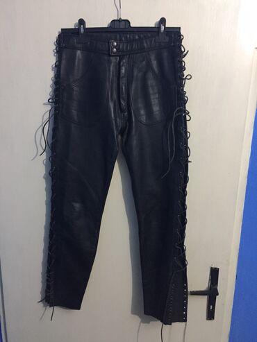 Tricetvrt pantalone - Srbija: Retro kožne pantalone, prava koža. Nošene par puta. Širina struka