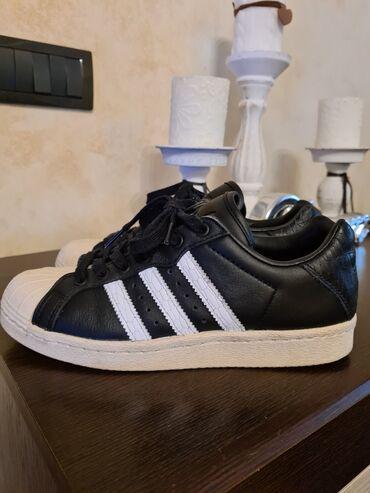 Bez cipele - Srbija: Adidas Super Star original br.38 kožne u odličnom stanju bez oštećenja