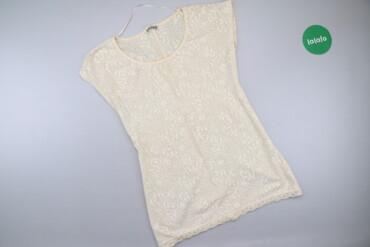 Личные вещи - Украина: Жіноча футболка з мереживом Pull&Bear, р. S   Довжина: 69 см Напів