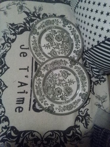 Tanjir engleski porcelan,dva komada,zeleni - Sombor