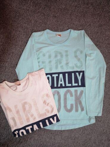 NOVO plava majica - veličina 10 Bela majica - veličina 12