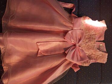 Dečija odeća i obuća | Krusevac: Predivna haljinica za devojčice u nežno roze boji,veličina 110.Nosena