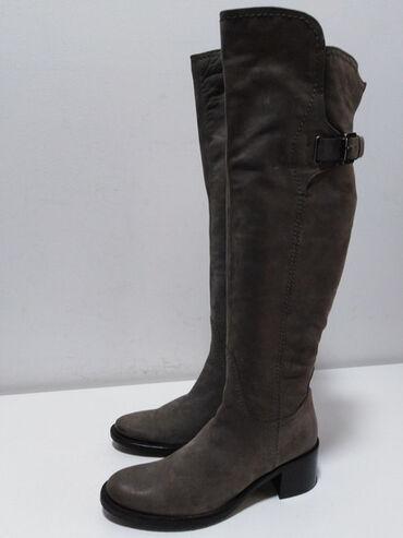 Original - Srbija: MARK ADAM NY original vrhunske kožne čizme iznad kolena izradjene