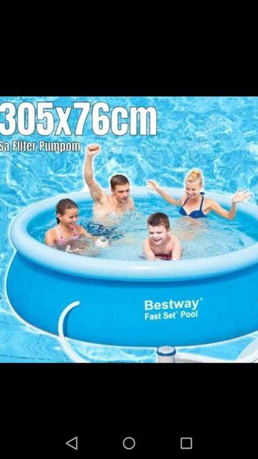Pumpa-za-bazen - Srbija: Slika 3 - BW bazen 305x76cm na naduvavanje 9000din Nadzemni bazen na n
