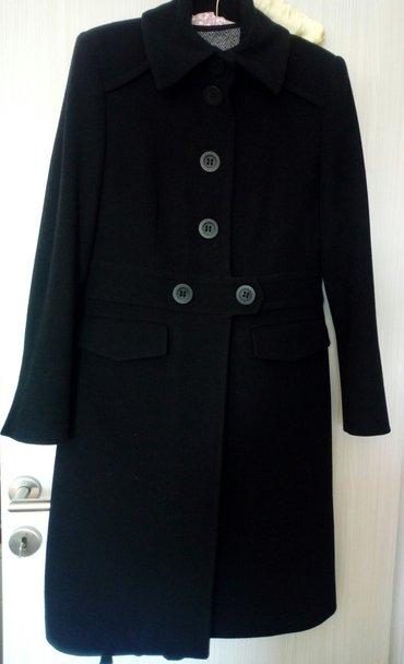Amc ženski kaput,crne boje,veličina 40. Sastav 80%vuna,20%najlon. - Obrenovac