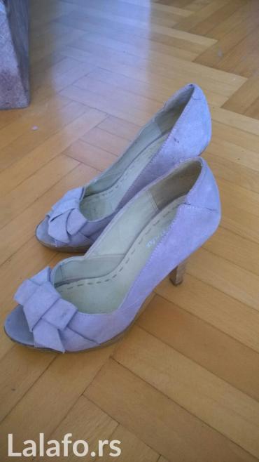 Oprevrnute koze boje vanile - Srbija: Cipelice prelepe. nekoliko puta obuvene. svetloljubicaste boje. od