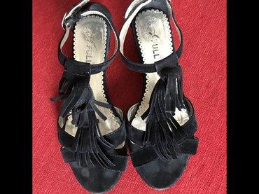 Crne sandale sa resama u broju 36 - Trstenik