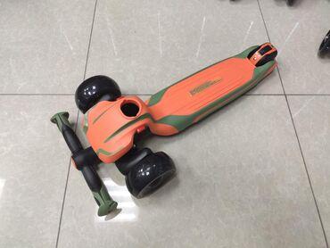 Новый детский самокат с светящимися колёсами Tech Team Surf Boy 2020