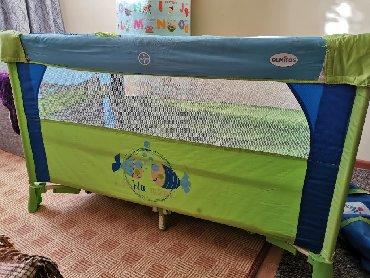 """Манеж-кровать """"Blue Marine"""" фирмы Olmitos (Италия)2 уровнясумка для"""