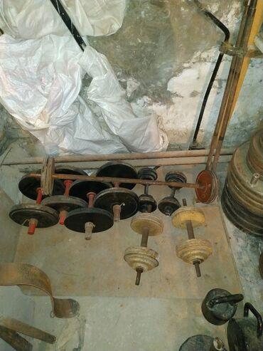 неразборные гантели в Кыргызстан: Разборные гантели : 44 кг - 6000 сом.61 кг - 8000 сом.Неразборные