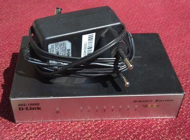 роутеры-tp-link-купить-бишкек в Кыргызстан: Продаю б/у 2 шт. гигабитных свитча D-Link DGS-1008D, 8 портов. за 1шт