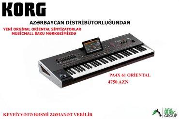 - Azərbaycan: Korg pa4x 61 və korg pa4x 76 sintizatorlarını orginal şəkildə və