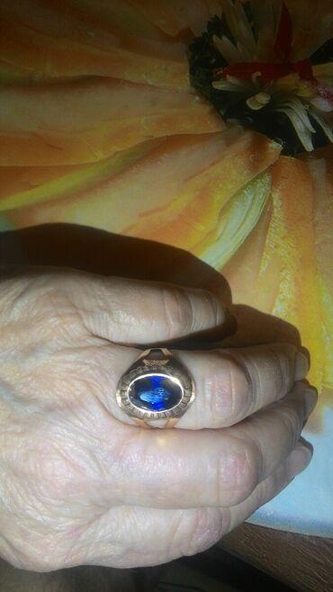 Украшения - Лебединовка: Продается кольцо золотое.Камень натуральный сапфир.Производство