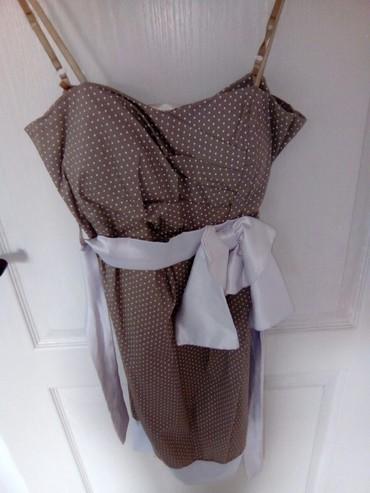Lepa krem haljinica na tufne nosena jednom samo stajala u - Vranje
