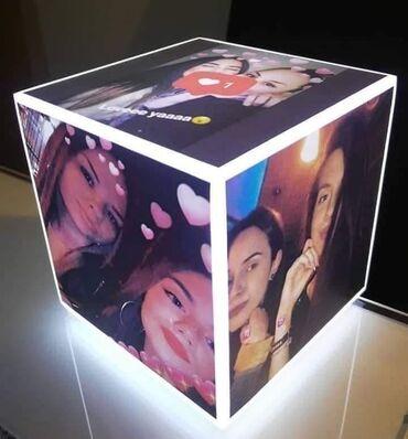 Projektori | Srbija: Led kocka lampa  5 fotografija  Dimenzije:10x10x10cm Cena 2950 din