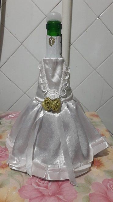 Продаю свадебный наряд на бутылки. б/у. в Бишкек