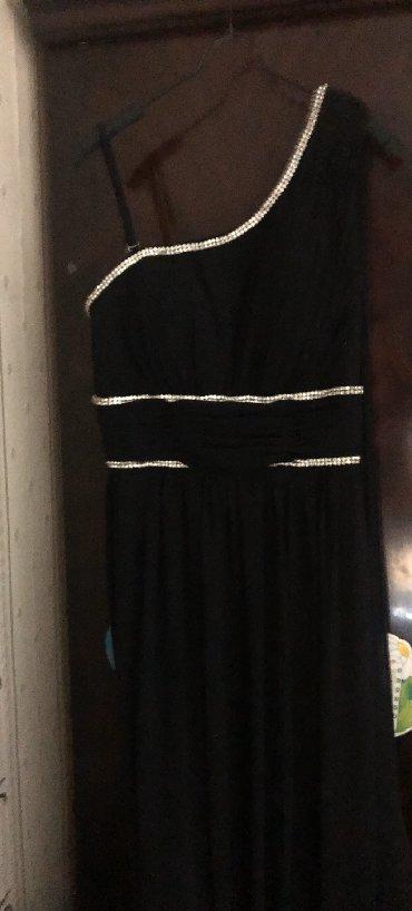 черное длинное платье в Кыргызстан: Шикарное чёрное вечернее длинное платье размер 44-46