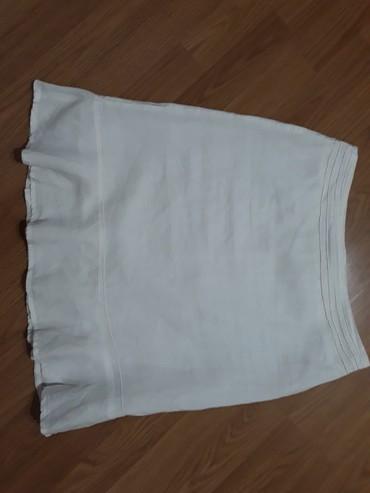 Lanena suknjica,duz.52 cm,struk 37 cm - Smederevo