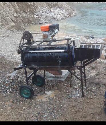 595 проба золота цена в Кыргызстан: Бутара скрубер для промывки золота, переносной мобильный (движок бензи