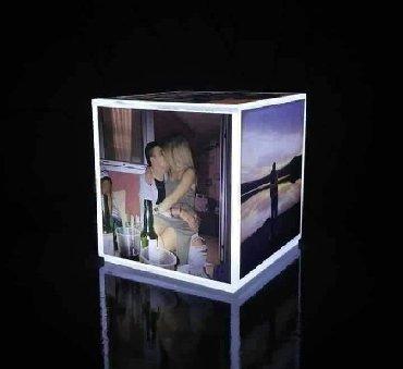 Ostali kućni dekor - Srbija: Led kocka lampa  5 fotografija  Cena 3000 din DEO UPLATE UNAPRED
