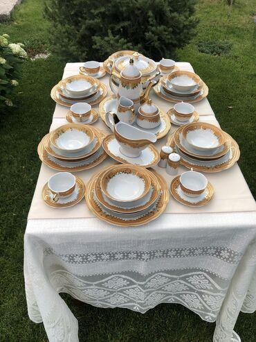 Посуда - Каинды: Столовой-чайный сервис новый был куплен давно но так и не пользовались
