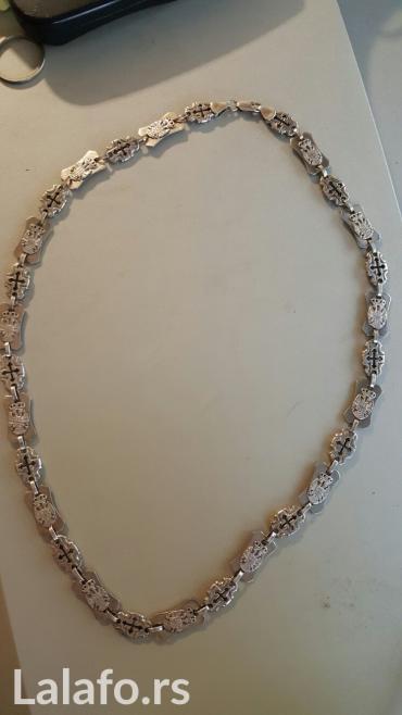 Srebrna muska ogrlica sa zigom 925, tezine 80 g, cena nije fiksna. - Obrenovac