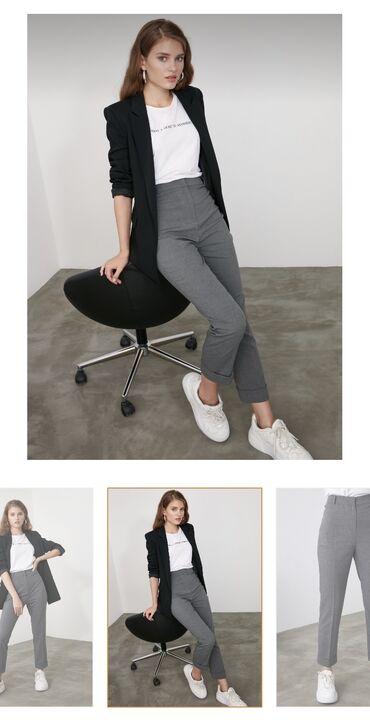 женские карго брюки в Азербайджан: Trendyolmilla-dan pantolon satilir 36 razmer