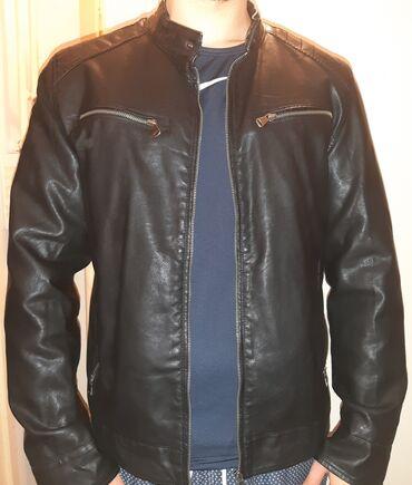 Potpuno nova kozna crna jakna. Bez apsolutno ikakvog ostecenja