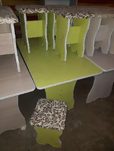 стол на кухню раскладной в Кыргызстан: КОМПЛЕКТ СТОЛ ТАБУРЕТКА КУХОННЫЙ БУФЕТ 75см 5000